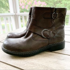 BOC Moto Vegan Leather Flannel Lined Boots